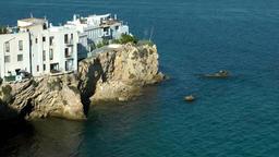 Europe Spain Balearic Ibiza Eivissa city 178 old village sa penya on promontory Footage