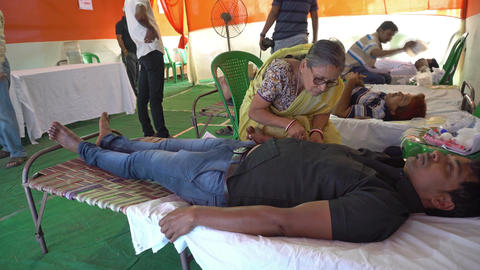 Blood donation camp West Bengal India Footage