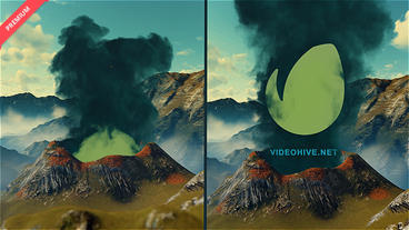 Opener Logo Volcana Smoke After Effects Project