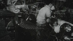 USA 1950s: Industrial Manufacturing and Auto Assembly Footage