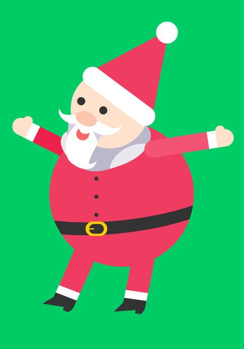 聖誕老公公揮揮手