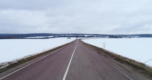 Overflight road Footage