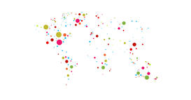 World Map Colored Dots 4K Animation With Alpha Channel Animation