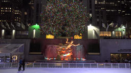 The Rink At Rockefeller Center. The best places to go ice-skating in NYC. NY, US Footage