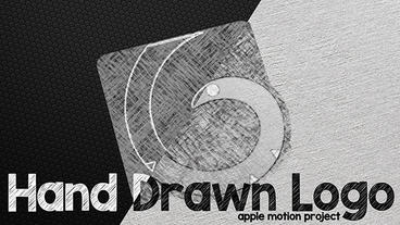 Hand Drawn Logo Apple Motion Template
