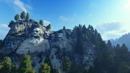 Mount Rushmore, 24 hour timelapse Animation