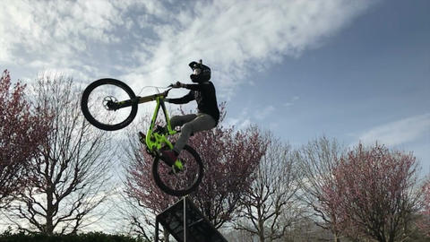 Mtb Freestyle Slow Motion Footage