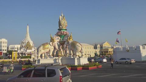 Democracy Monument in Bangkok Footage