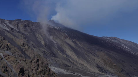 Eruption Of Mount Etna In Sicily Italy Volcano Lava Crater Footage