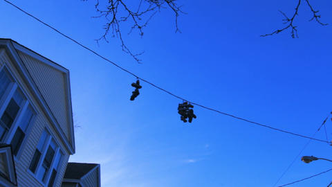 Shoes On The Wire Footage