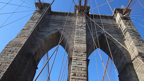 Top Of The Brooklyn Bridge Footage
