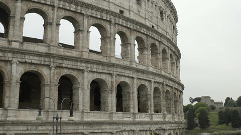 Colosseum facade, famous attraction in Rome, cultural heritage of Italy Footage