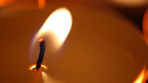 Candle flame affected by strong wind, facing problems, fight to overcome problem Live Action