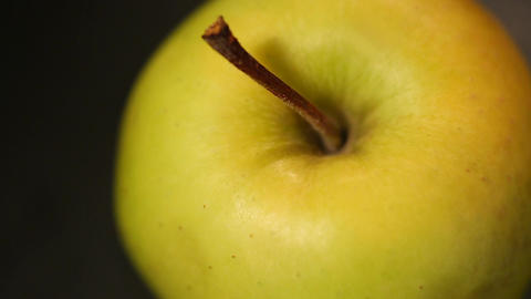 Green apple rich in vitamins, cider production, organic fruit for healthy diet Footage