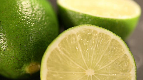 Natural green organic lime, color inspiration for creativity, restoring energy Footage