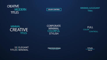 55 Titles Corporate & Minimal (CS5 5) After Effects Projekt