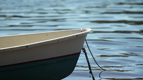 moored rowing boat close-up Footage