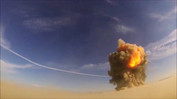 Explosion by Air Force Explosive Ordinance Disposal technicians Footage