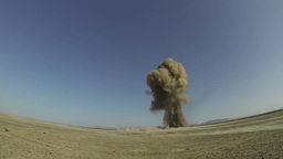Explosion by Air Force Explosive Ordinance Disposal... Stock Video Footage