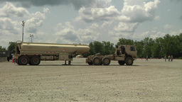 Camp Atterbury truck lorry vehicle Marshaling Yard Footage