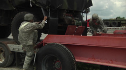 Camp Atterbury truck lorry vehicle Marshaling Yard Footage