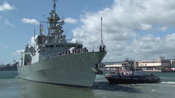 Royal Canadian Navy's frigate Calgary leaves Pearl Harbor Footage