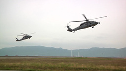 Helicopters Island Knights Train for Special Operations Support Missions Footage