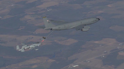 127th Wing KC-135 stratotanker refueling an A10 Thunderbolt Footage