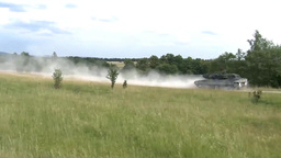 Royal Danish Army Leopard 2 tanks at Grafenwoehr, Germany Footage