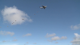 Arctic Thunder Airshow - C-17 Globemaster dropping parachutists Footage