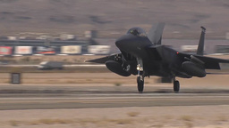F-15 Eagle landing at Red Flag Footage