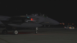 F-15E Eagle taxis out for take off Footage