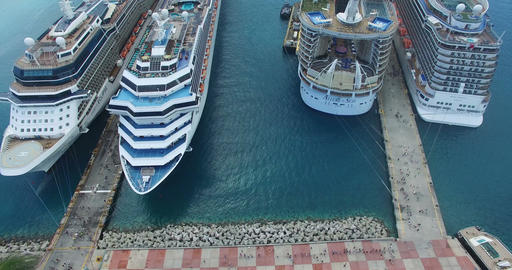 Aerial view of Tourist cruise Footage