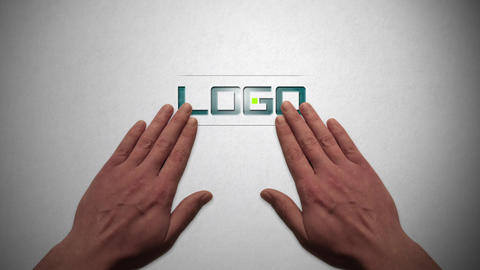 Hand Animation Logo Reveal After Effects Template