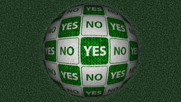 Decorative green and white video with rotating sphere - yes and no Animation