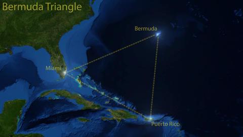 Bermuda Triangle navigation CG動画素材