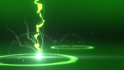 SHA Lightning BG Image Green Animation