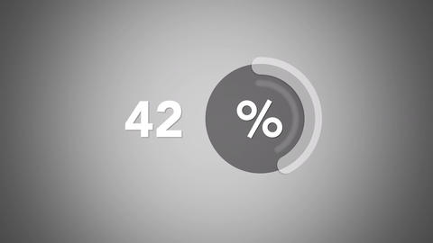 Animation grey percentage progress indicator Footage