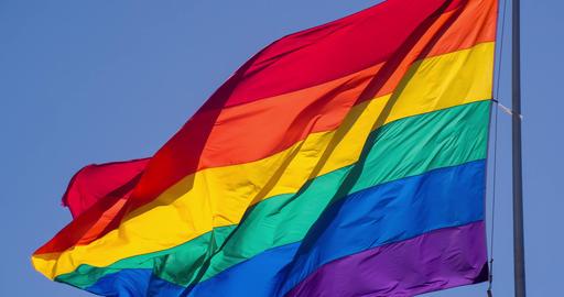 Rainbow Gay Pride Flag Slow Motion ビデオ
