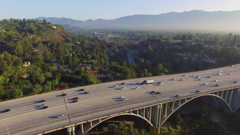 Aerial Freeway Bridge Filmmaterial