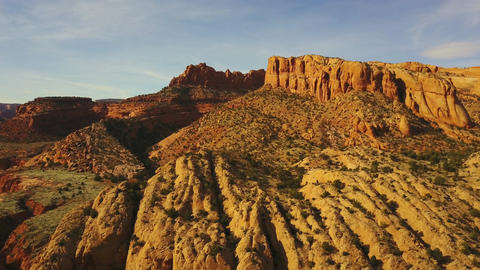 Rugged Landscape In Arizona Footage