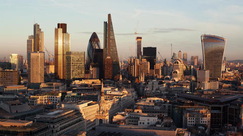 Day to night time-lapse of the business district of London Footage