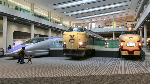 Kyoto Railway Museum With Trains Locomotives Wagons In Japan Asia Footage