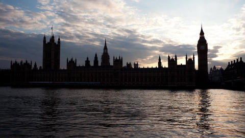 Day to night timelapse of Big Ben and the Houses of Parliament Footage