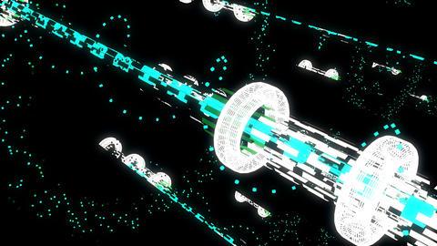 Techno Space 4K 03 Vj Loop Animation