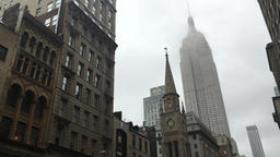 Foggy Empire State Building Footage