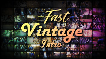 Fast Vintage Intro - Apple Motion and Final Cut Pro X Template Appleモーションプロジェクト