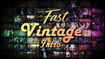 Fast Vintage Intro - Apple Motion and Final Cut Pro X Template Plantilla de Apple Motion
