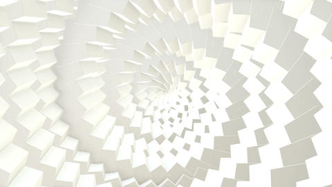 Abstract CGI motion graphics and looped animated background with white cubes in  Animation