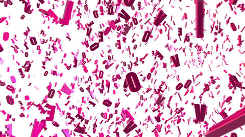 "Looped animated background with chaotic spinning pink 3d letters ""LOVE"" ภาพเคลื่อนไหว"